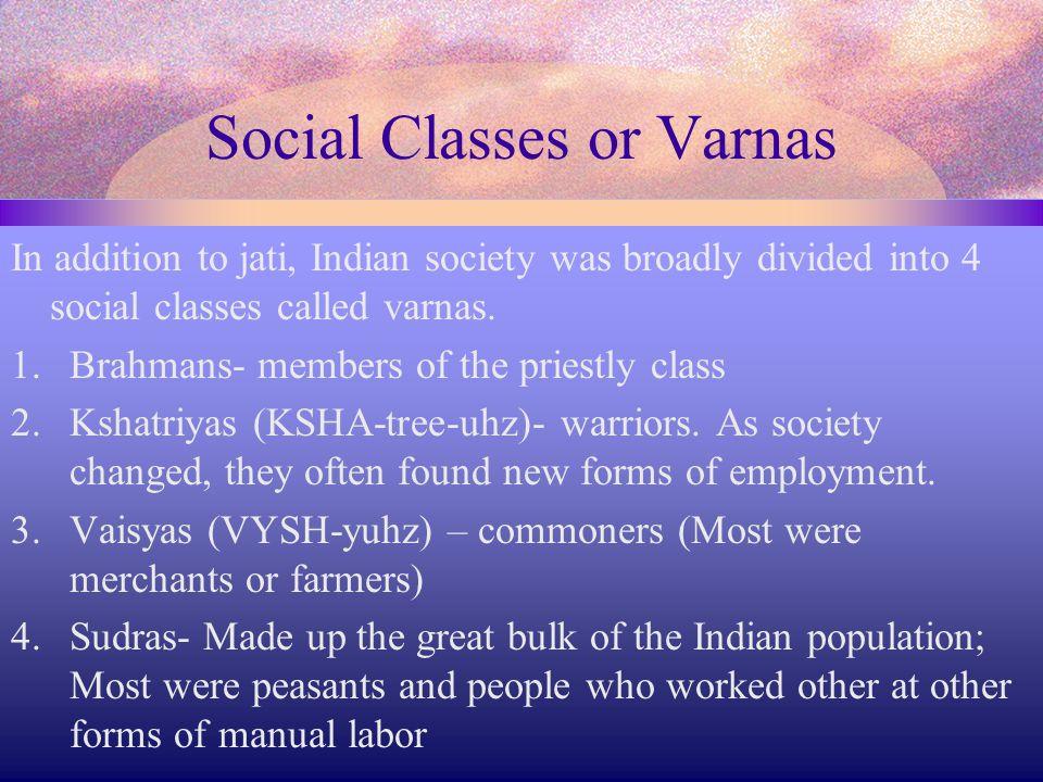 Social Classes or Varnas