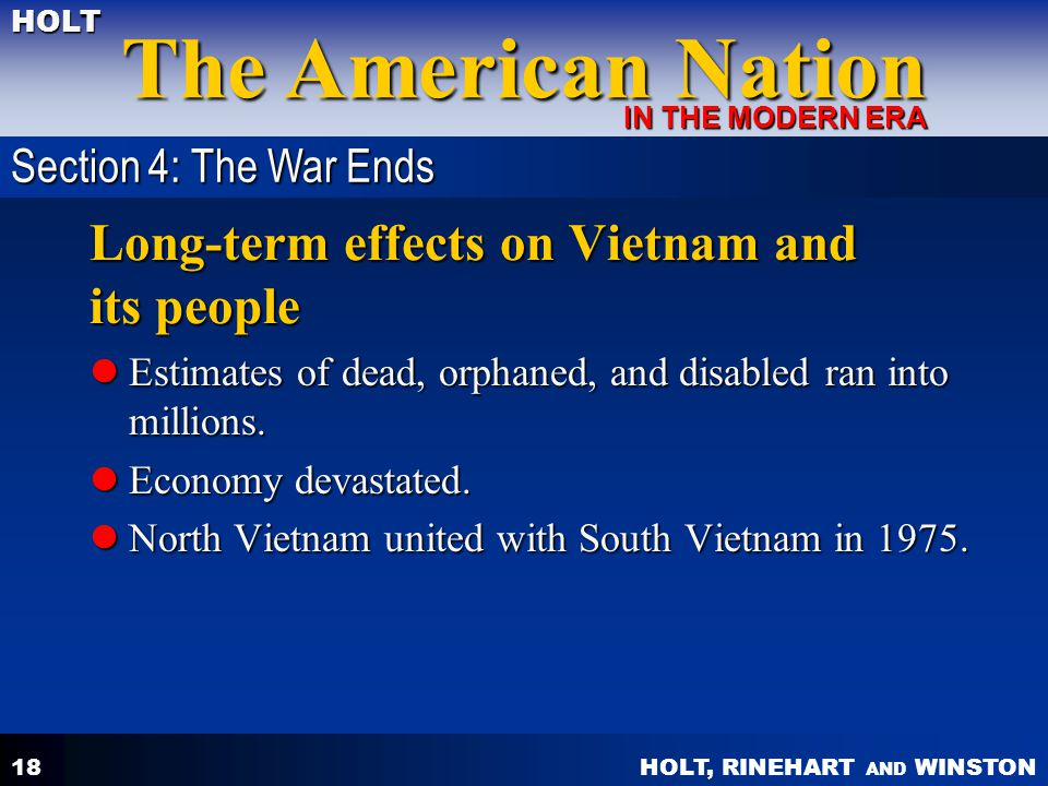 Long-term effects on Vietnam and its people