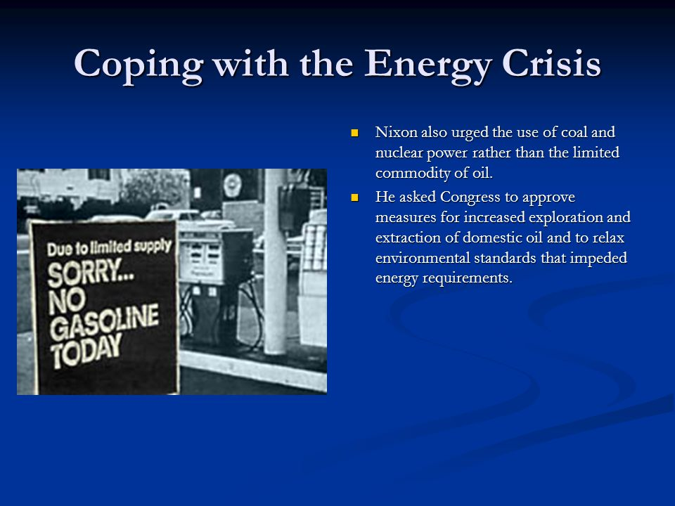the energy crisis of the 1970s To give us a clue, we only have to look back at the oil crises of the 1970s showing a sharp increase in 1973 and again during the 1979 energy crisis.