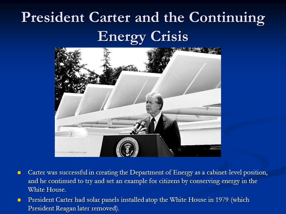 President Carter and the Continuing Energy Crisis