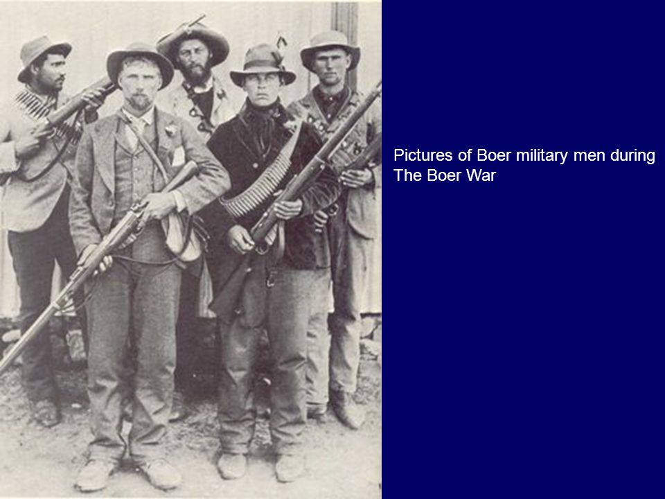 Pictures of Boer military men during