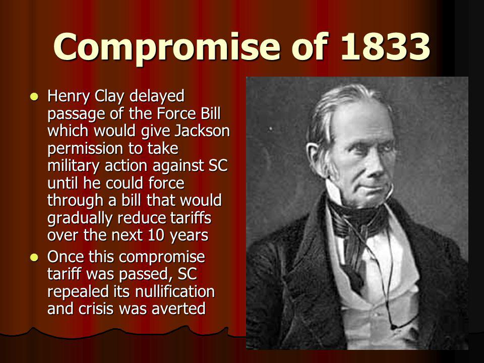 Compromise of 1833