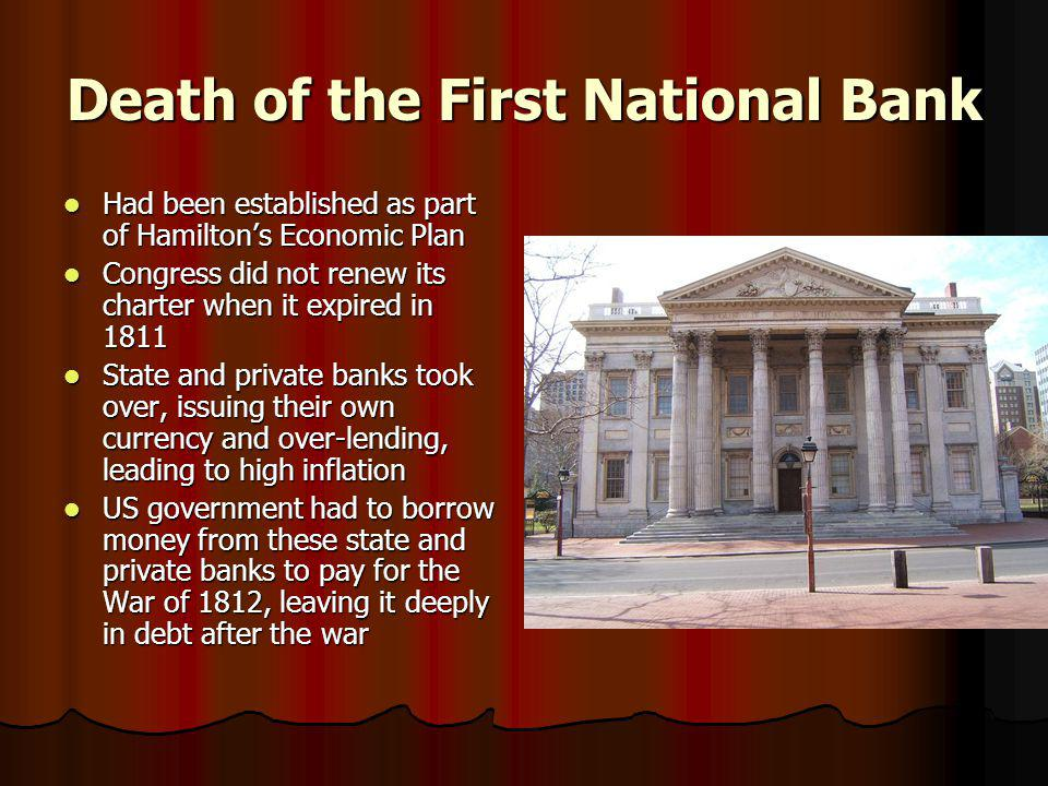 Death of the First National Bank