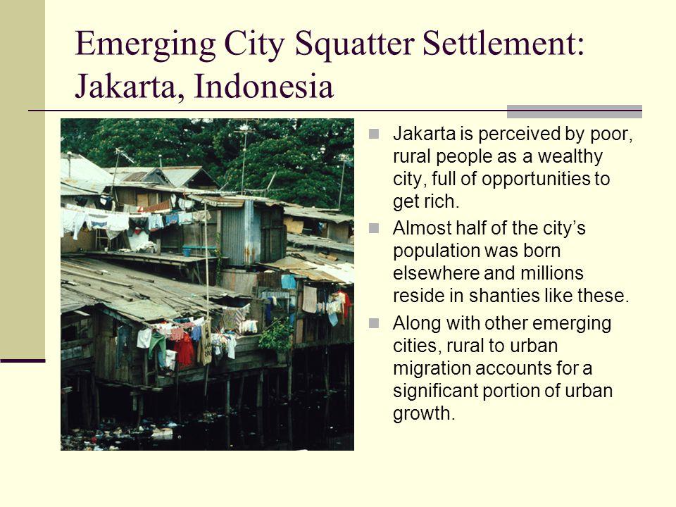 Emerging City Squatter Settlement: Jakarta, Indonesia