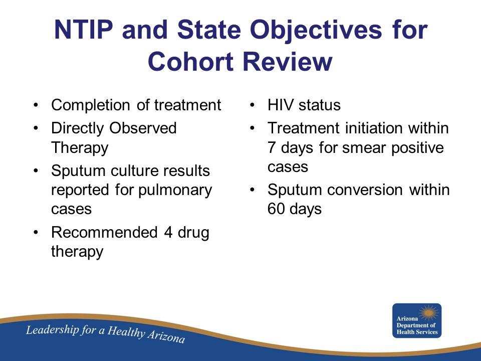 NTIP and State Objectives for Cohort Review
