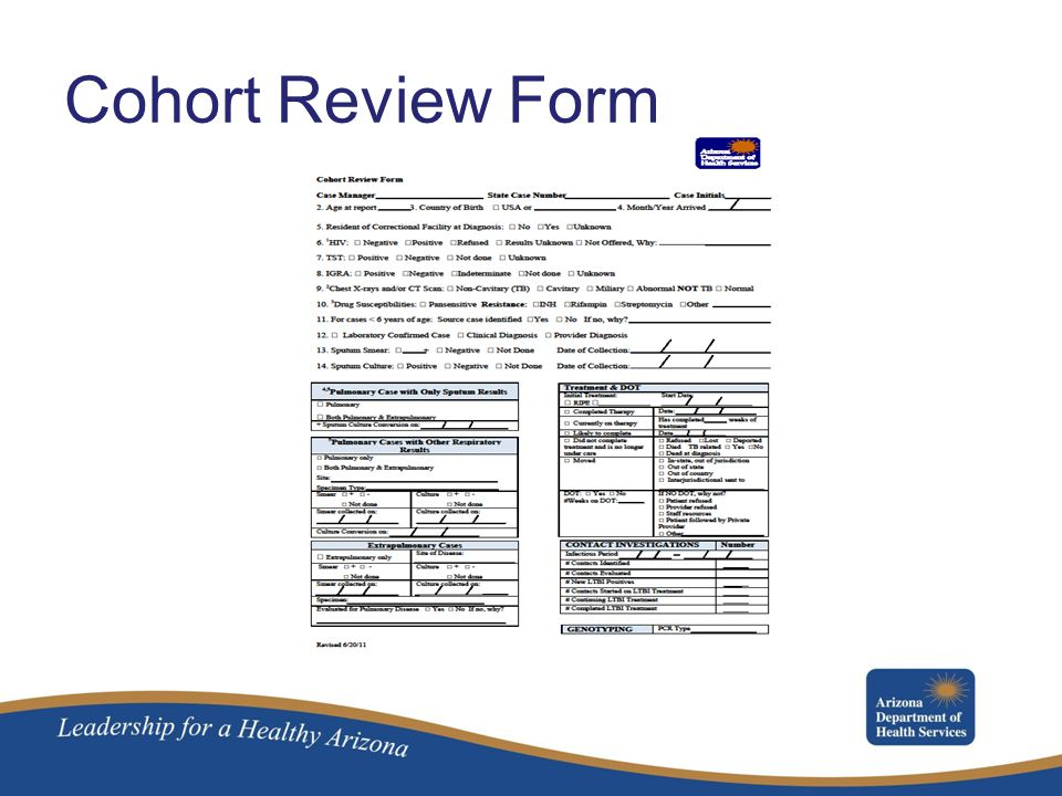Cohort Review Form