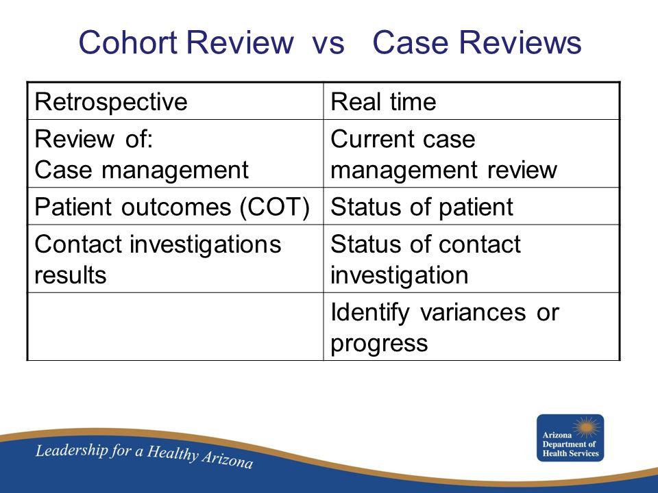 Cohort Review vs Case Reviews