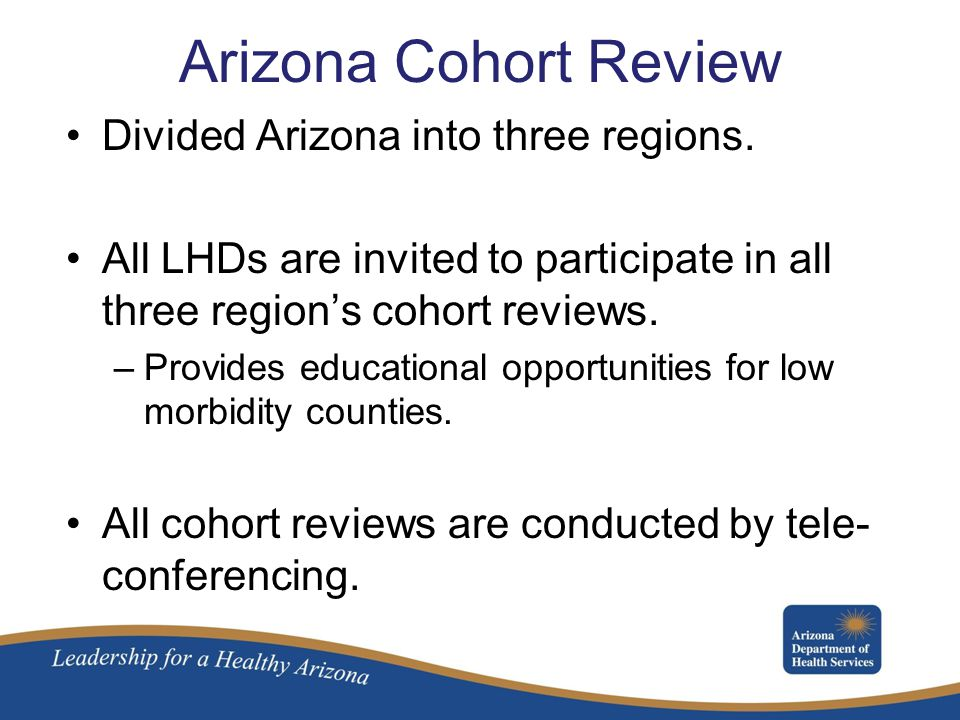 Arizona Cohort Review Divided Arizona into three regions.