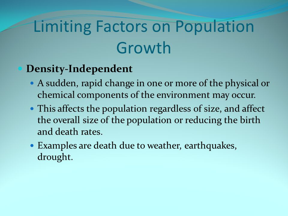Limiting Factors on Population Growth