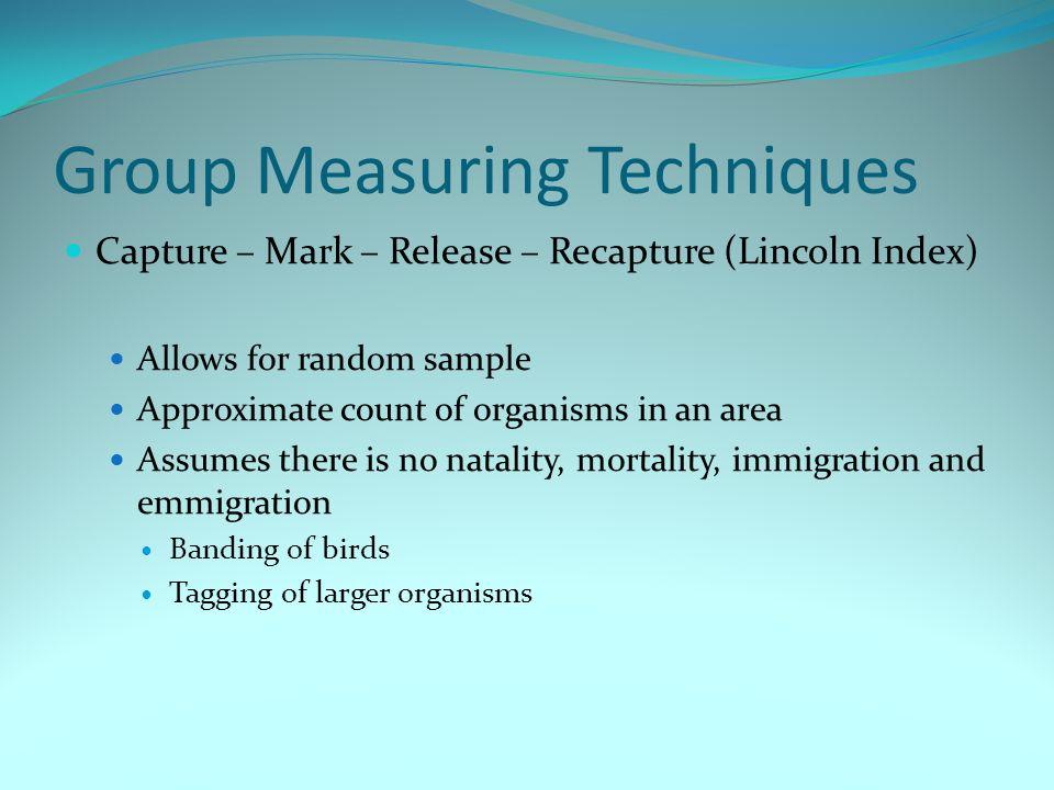 Group Measuring Techniques