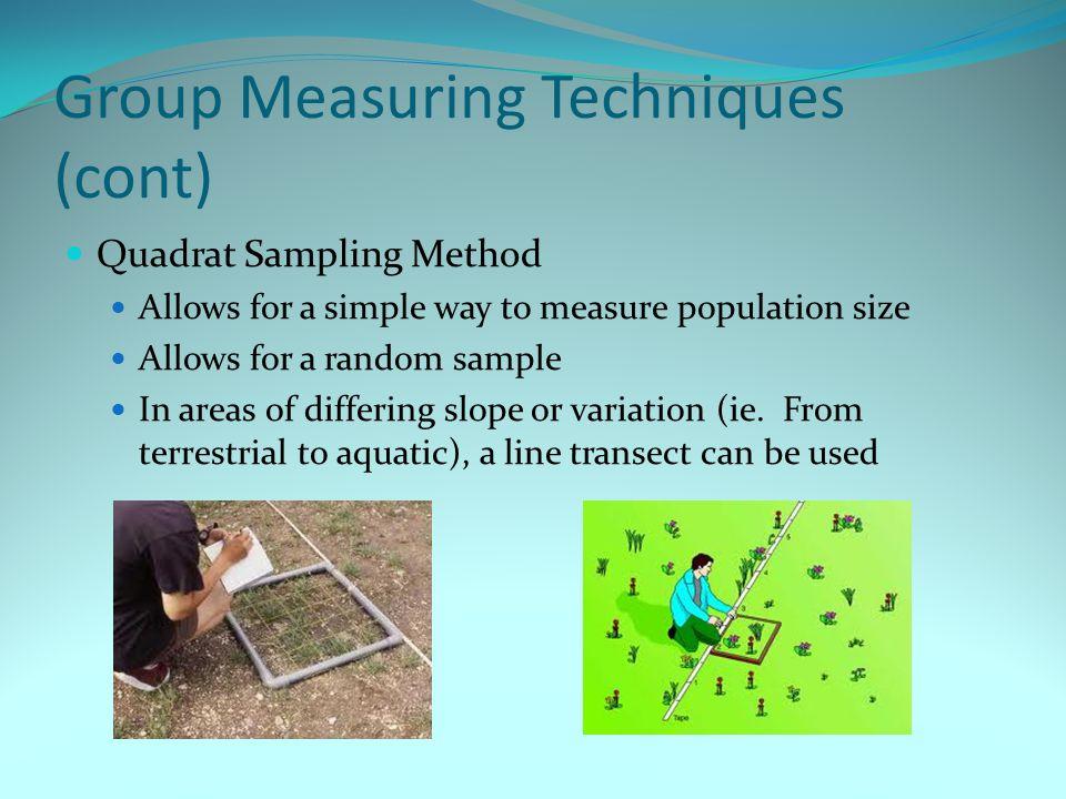 Group Measuring Techniques (cont)