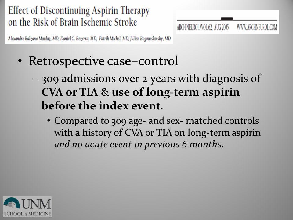 Retrospective case–control