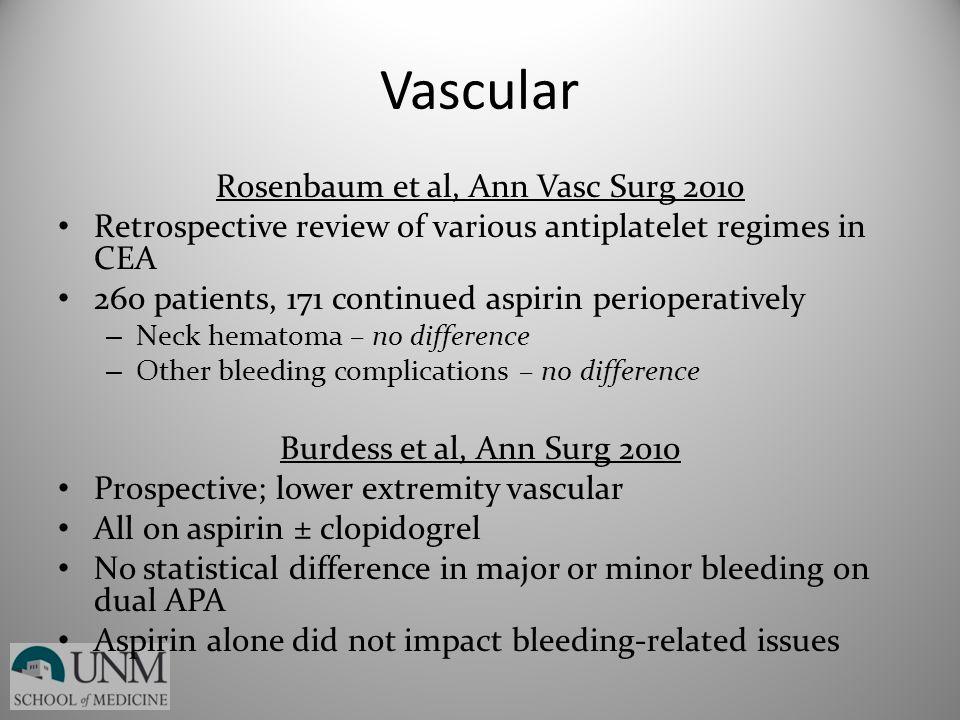 Rosenbaum et al, Ann Vasc Surg 2010