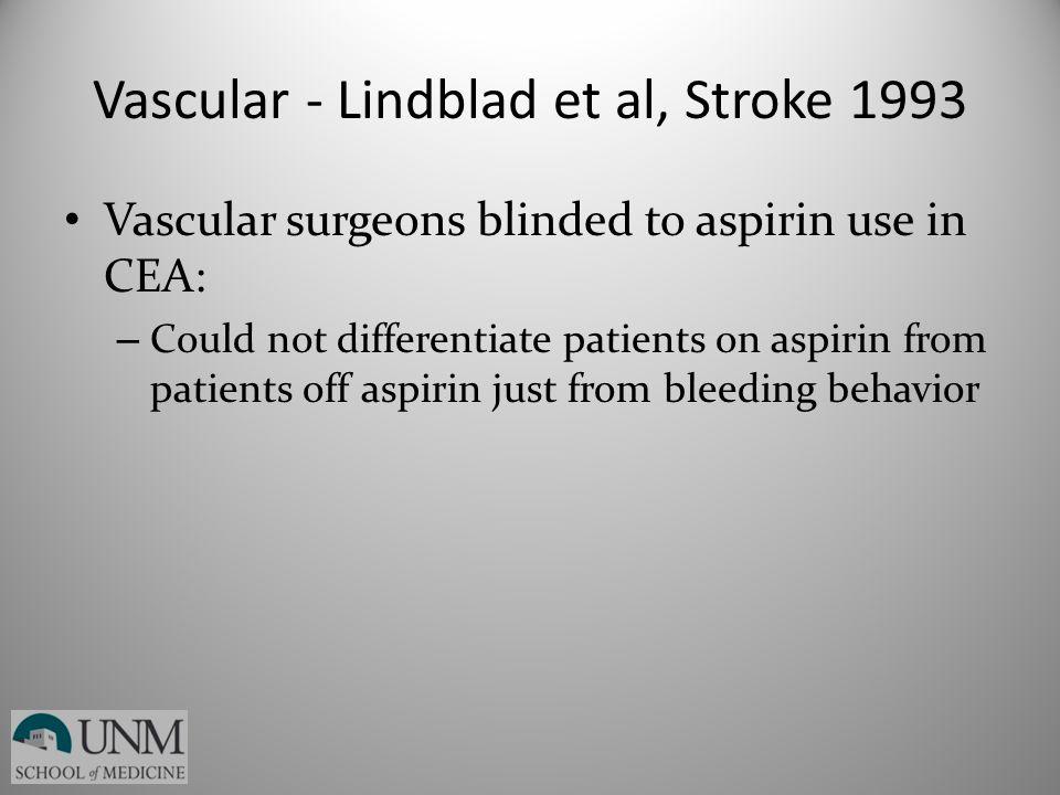 Vascular - Lindblad et al, Stroke 1993