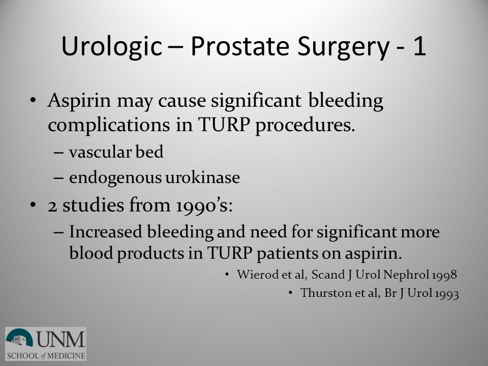 Urologic – Prostate Surgery - 1