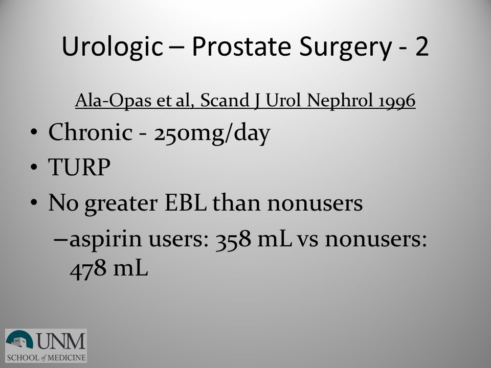Urologic – Prostate Surgery - 2