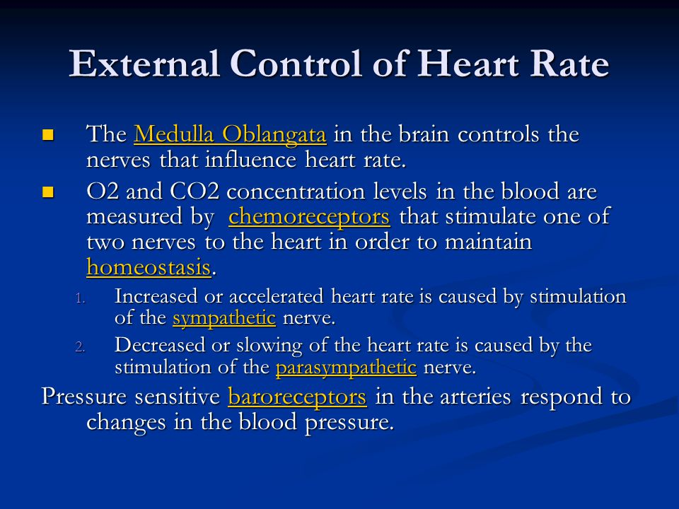 External Control of Heart Rate