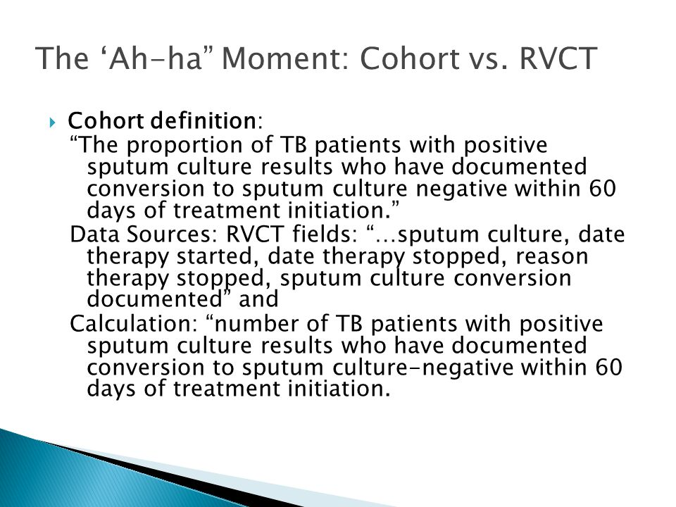 The 'Ah-ha Moment: Cohort vs. RVCT