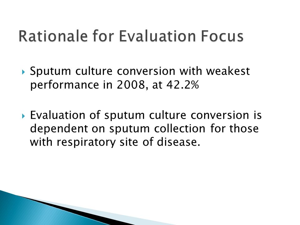 Rationale for Evaluation Focus