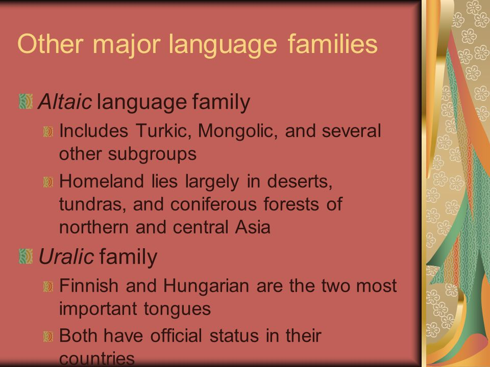 Other major language families
