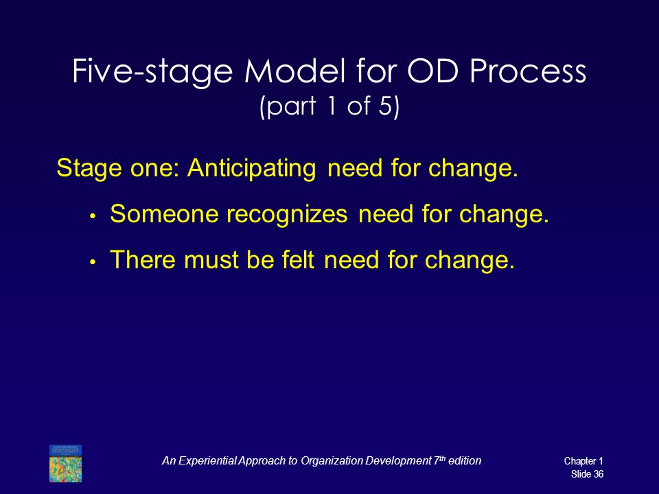 Five-stage Model for OD Process (part 1 of 5)