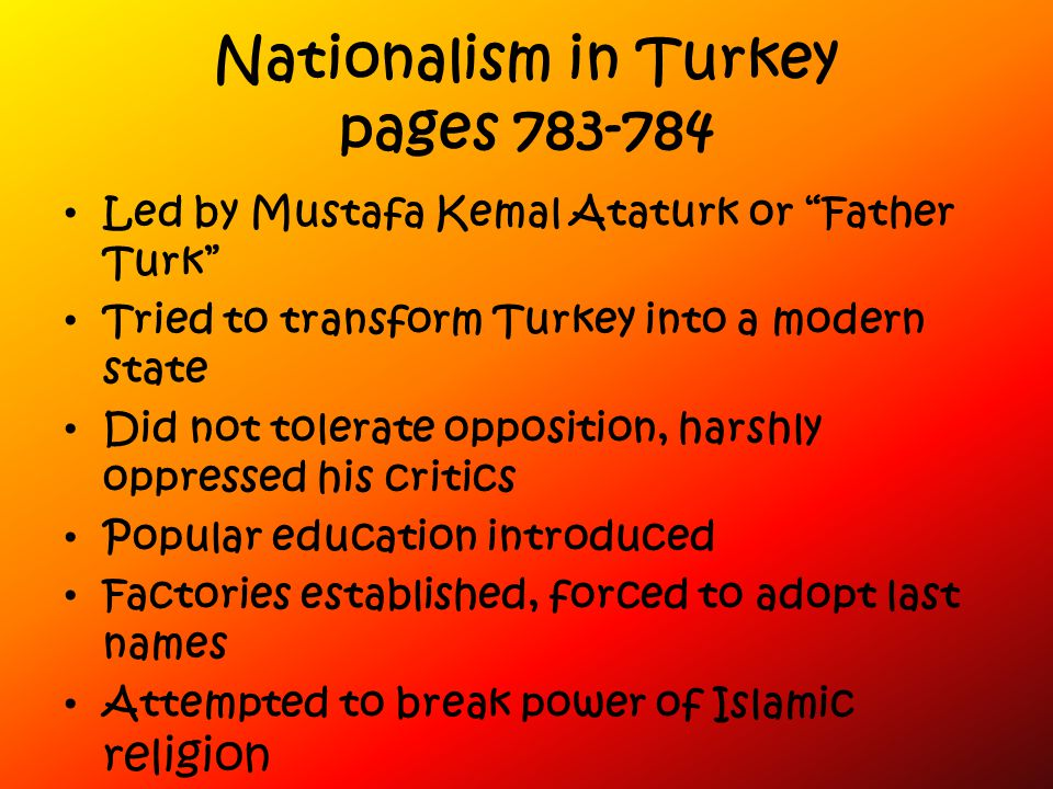 Nationalism in Turkey pages 783-784
