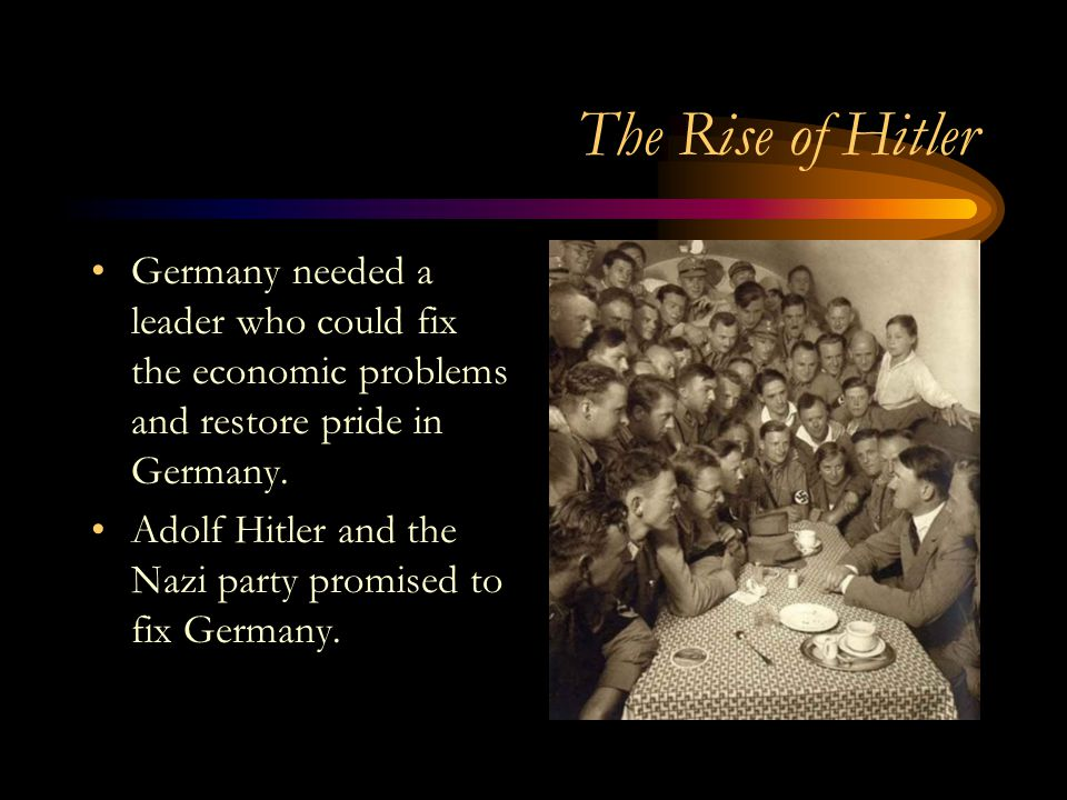 an analysis of the rise of adolf hitler the leader of the nazi germany Party in the 1930s and 1940s, many academic analyses of nazi economic   194)22 it was in charge of delivering services –some of them previously  was  widely accepted in the early literature on hitler's rise to power.