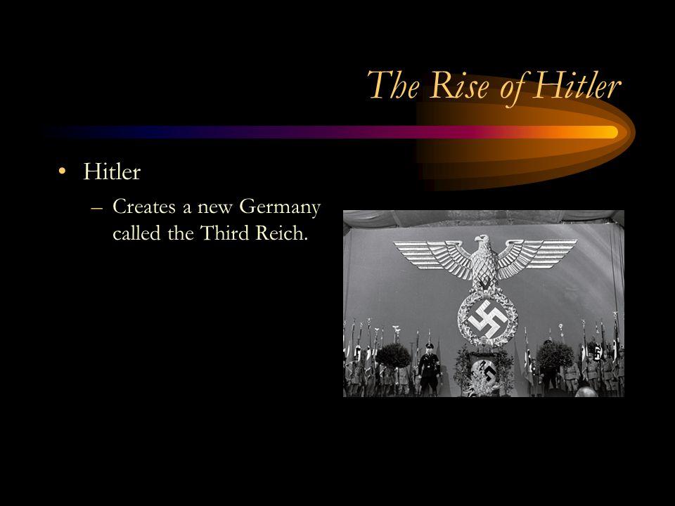 The Rise of Hitler Hitler
