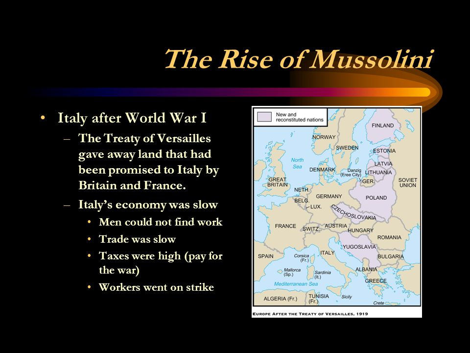 The Rise of Mussolini Italy after World War I