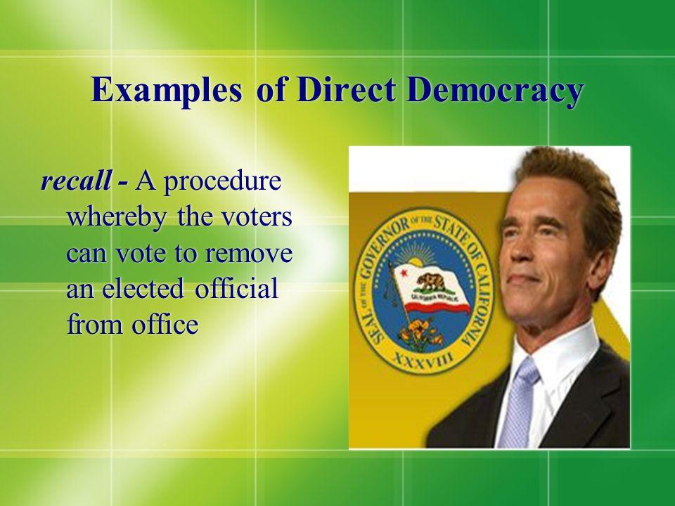 Examples of Direct Democracy