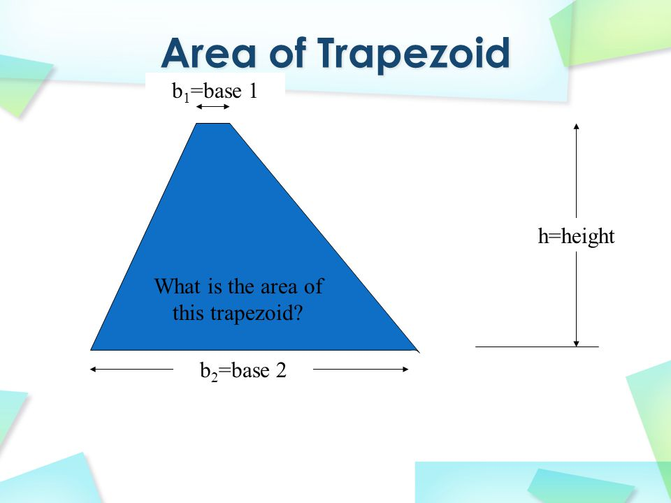 What is the area of this trapezoid