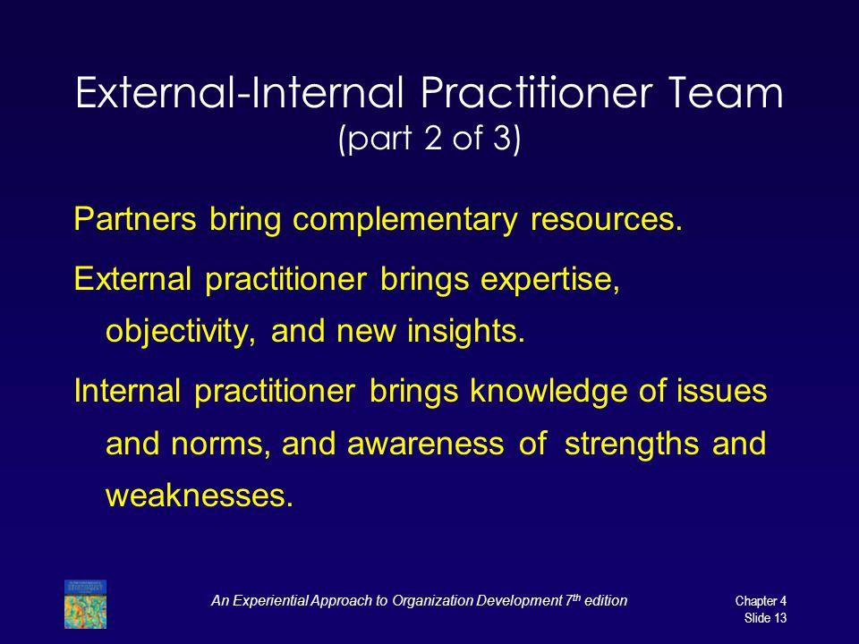 External-Internal Practitioner Team (part 2 of 3)