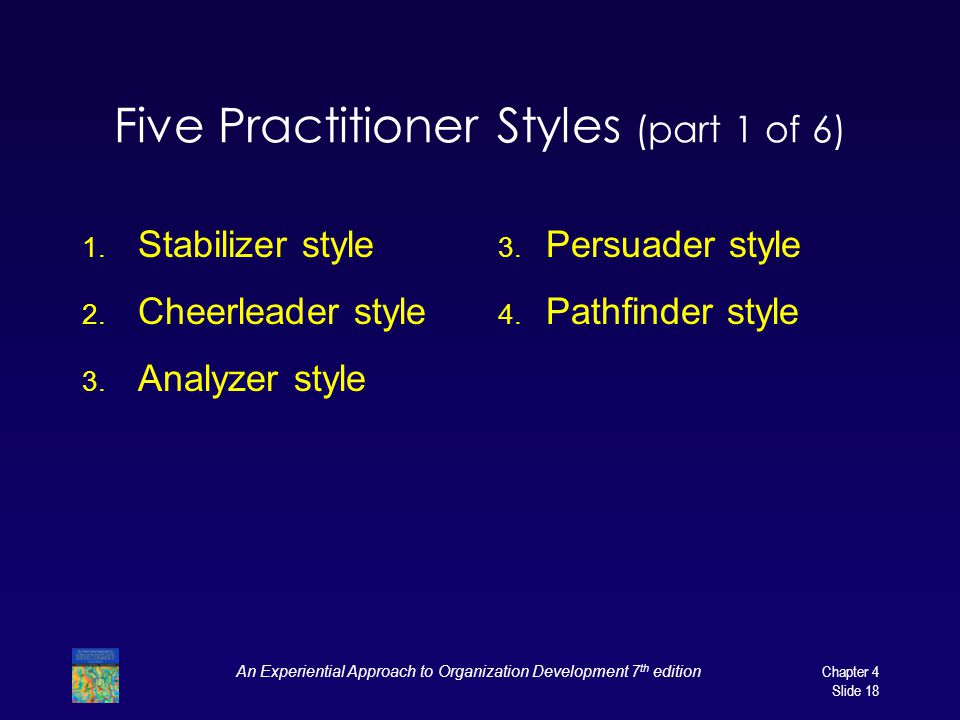 Five Practitioner Styles (part 1 of 6)
