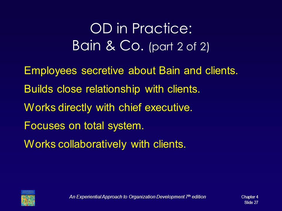 OD in Practice: Bain & Co. (part 2 of 2)