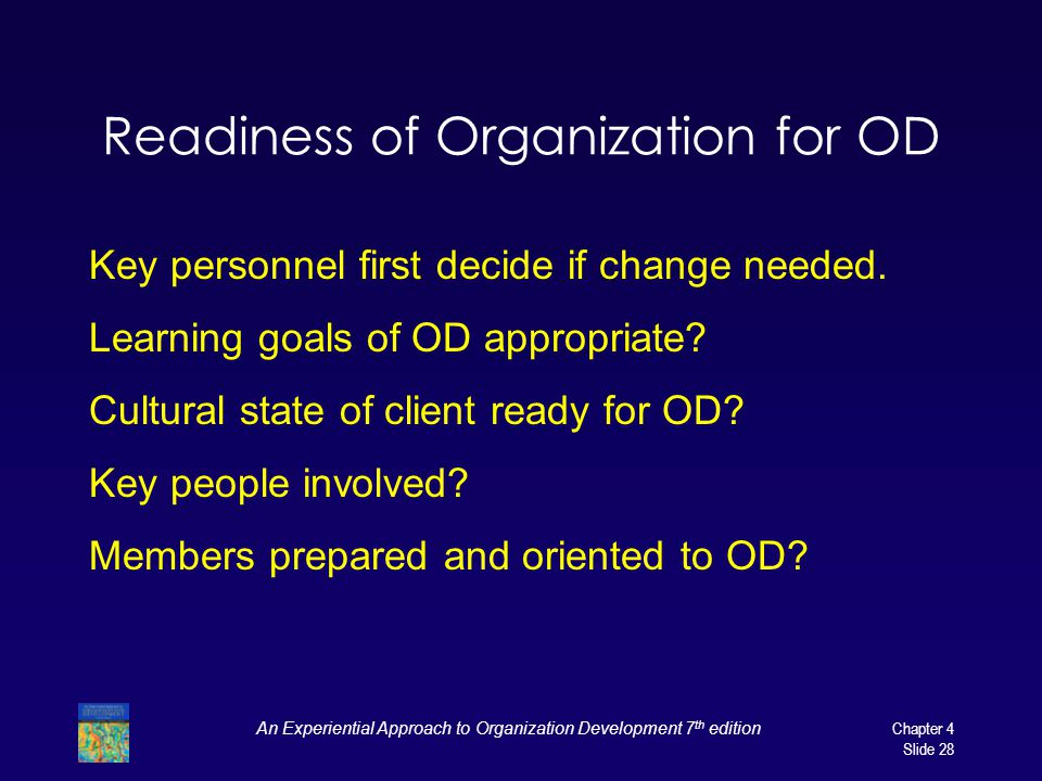 Readiness of Organization for OD