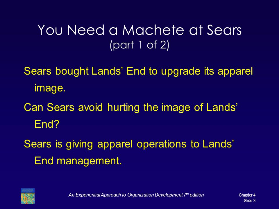 You Need a Machete at Sears (part 1 of 2)
