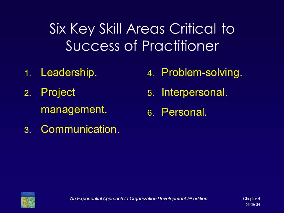 Six Key Skill Areas Critical to Success of Practitioner
