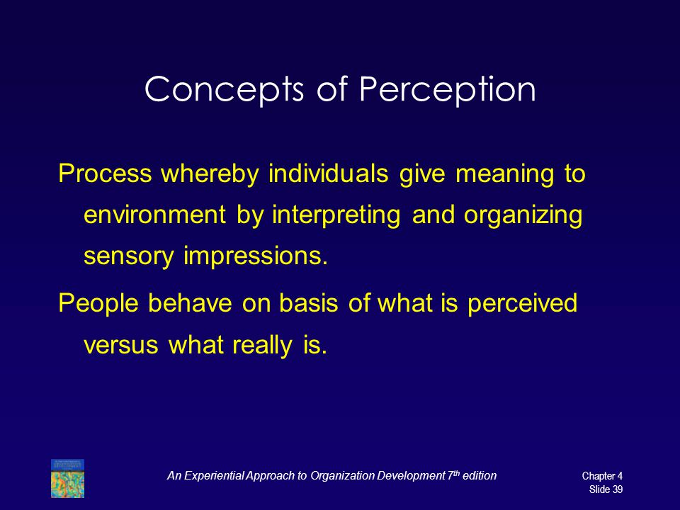 Concepts of Perception