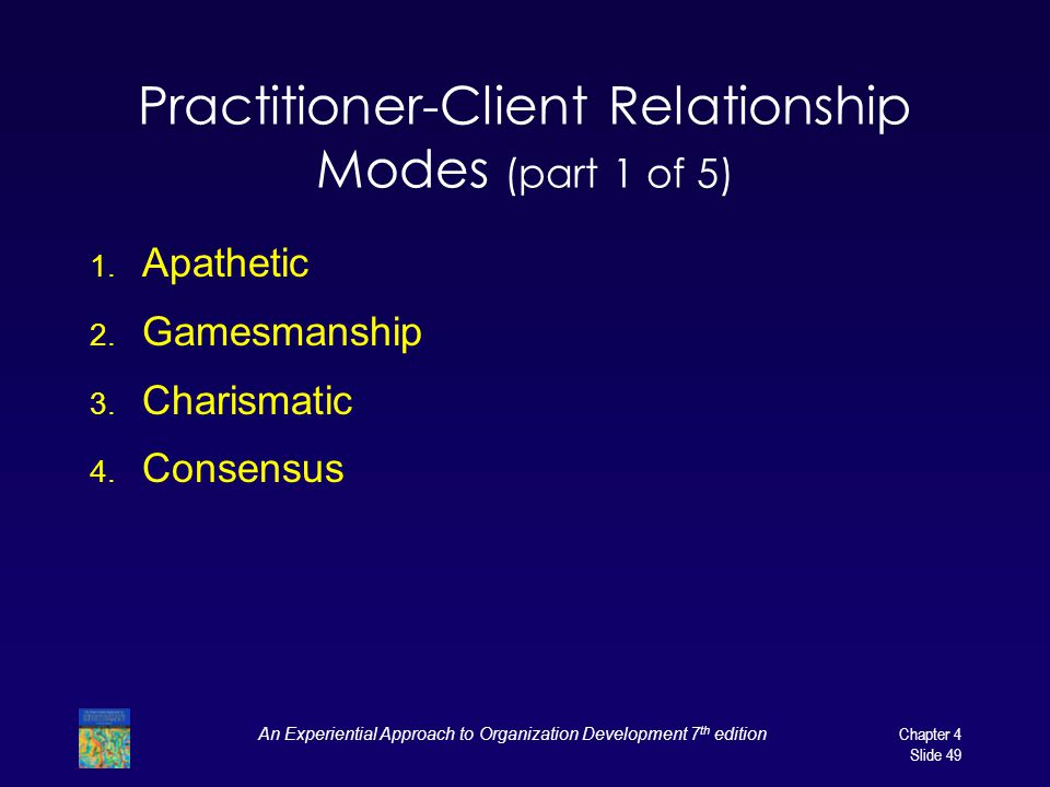 Practitioner-Client Relationship Modes (part 1 of 5)
