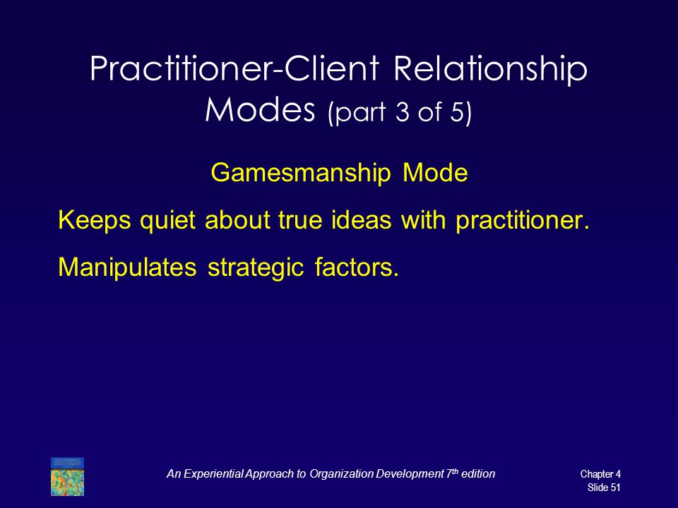 Practitioner-Client Relationship Modes (part 3 of 5)
