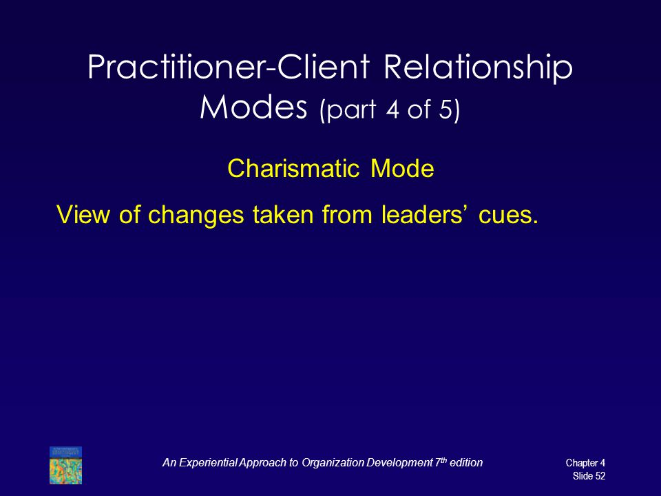 Practitioner-Client Relationship Modes (part 4 of 5)