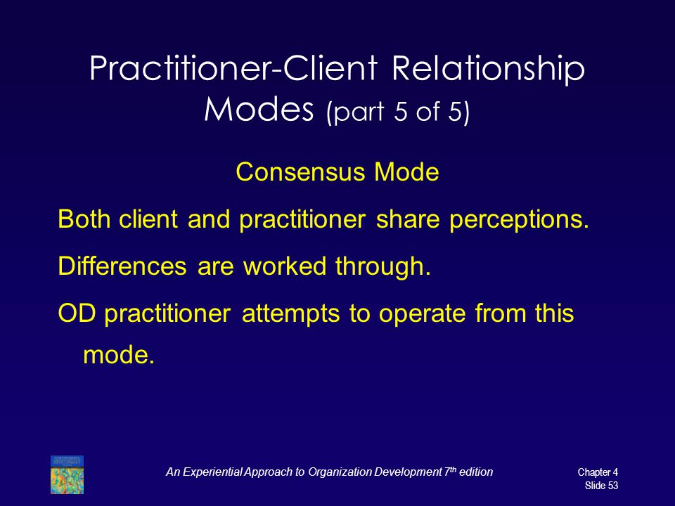 Practitioner-Client Relationship Modes (part 5 of 5)
