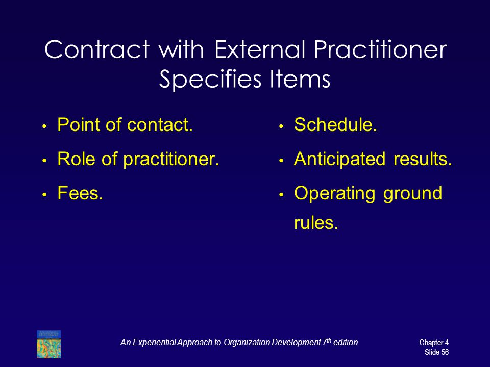 Contract with External Practitioner Specifies Items