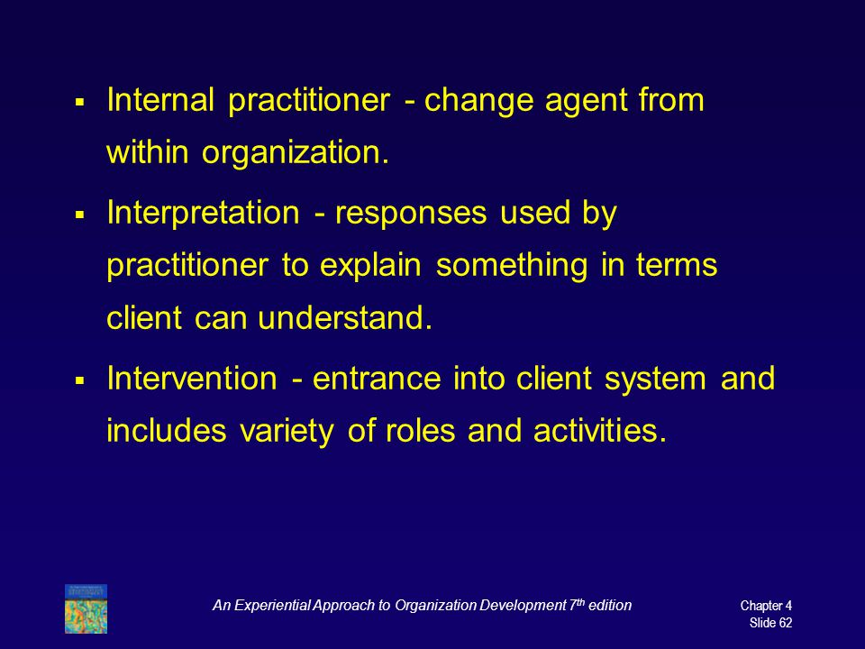 An Experiential Approach to Organization Development 7th edition