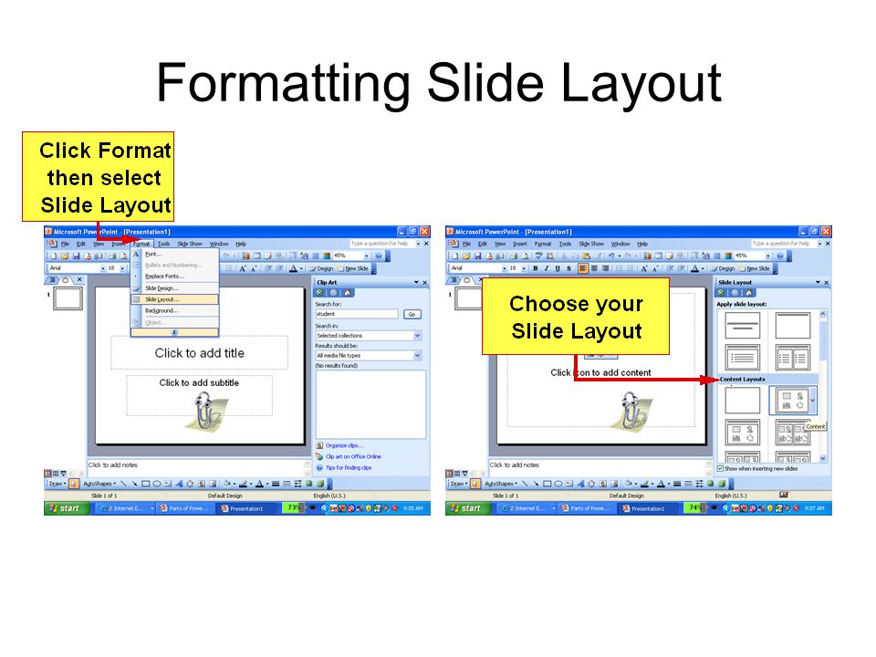 Formatting Slide Layout