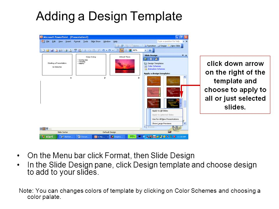 Adding a Design Template