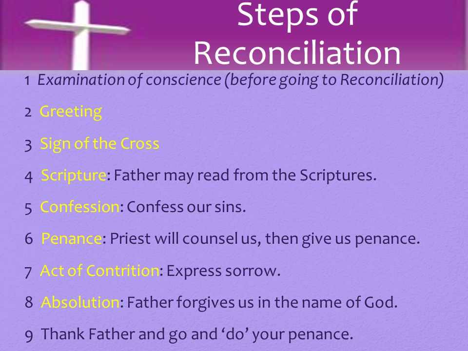Steps of Reconciliation