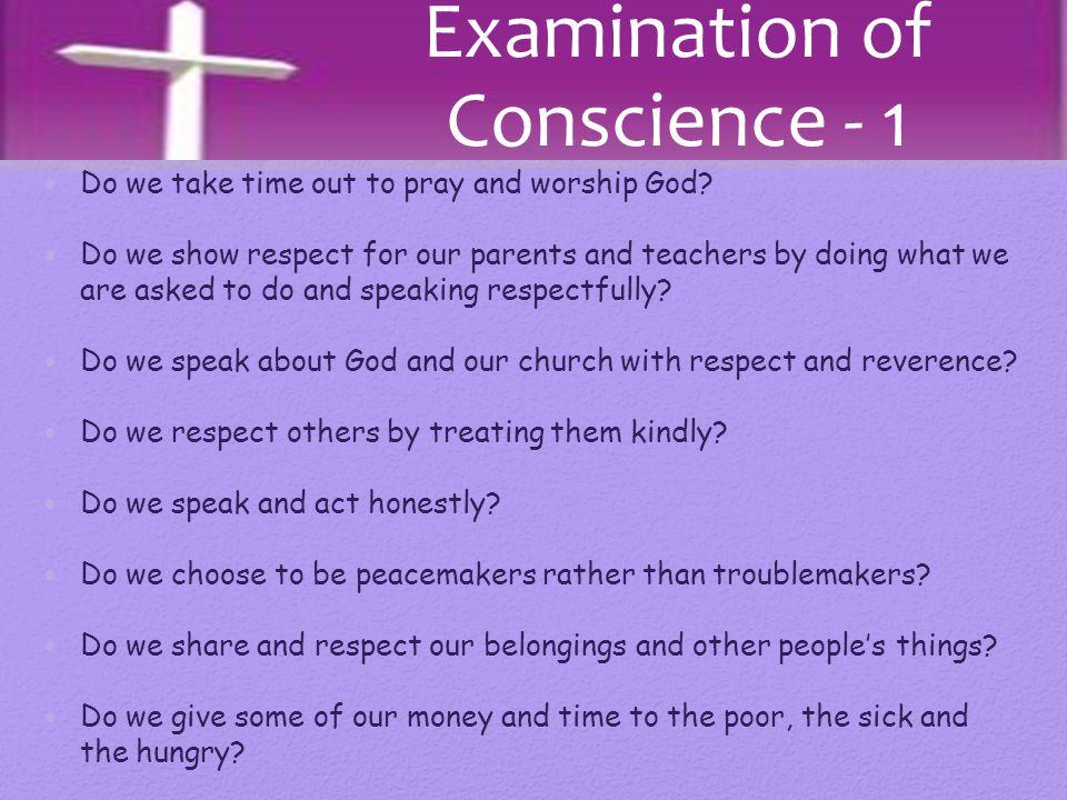 Examination of Conscience - 1