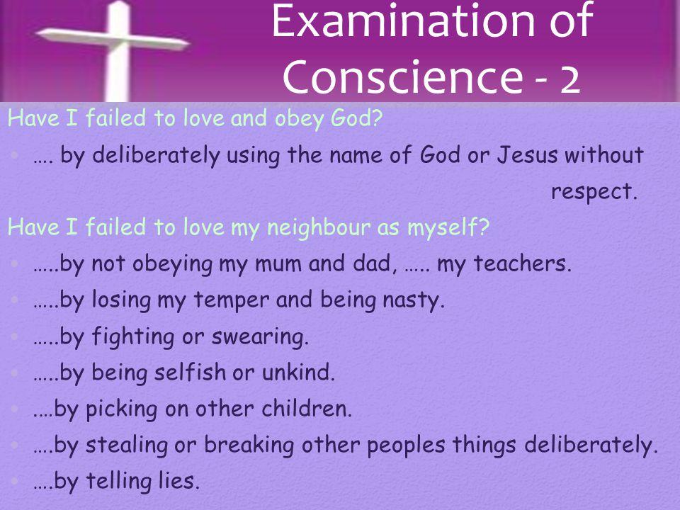 Examination of Conscience - 2
