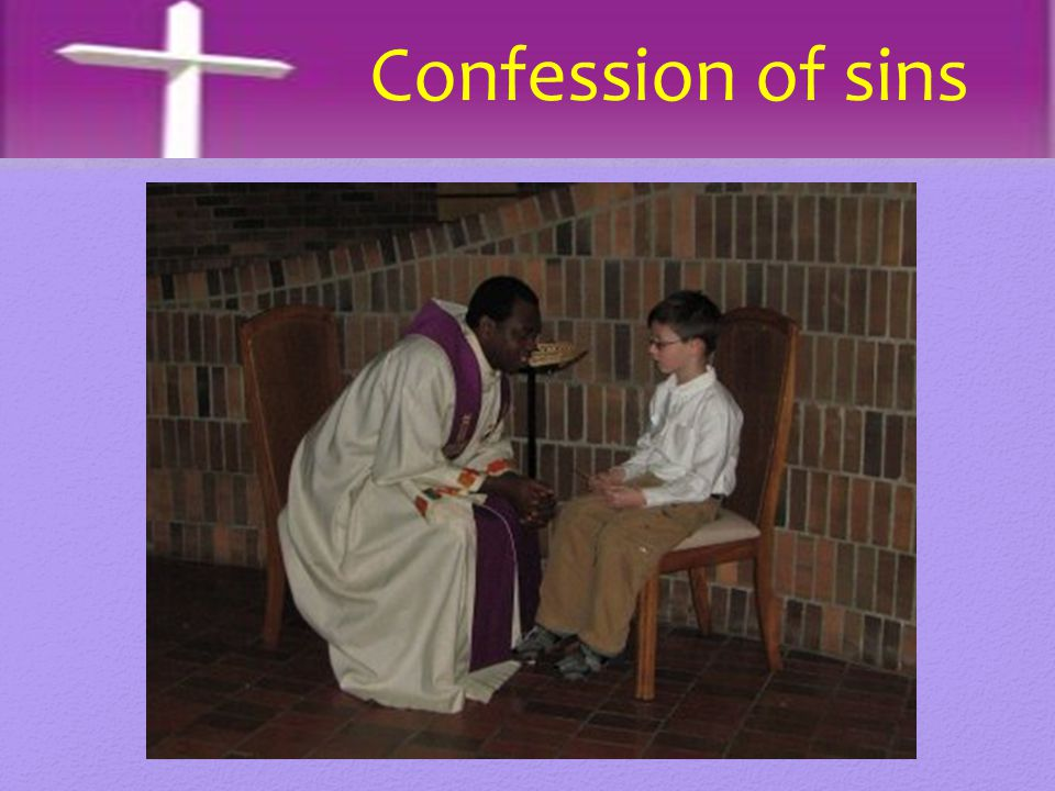 Confession of sins